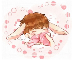 adorable, bunny, and fanart image