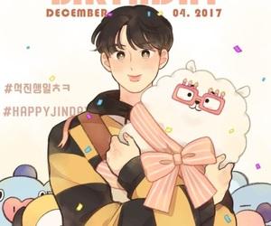 fanart, happy birthday, and jin image