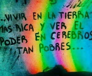 frases, rainbow, and quotes image