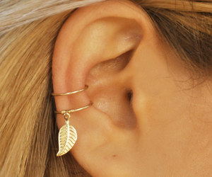ear, feather, and girl image