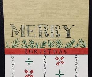 christmas card, diy, and handwriting image