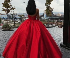 dress, red, and princess image