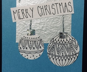 bauble, holiday, and blue image