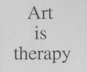 art, therapy, and quotes image