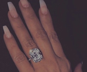 goals, nails, and engagement ring image