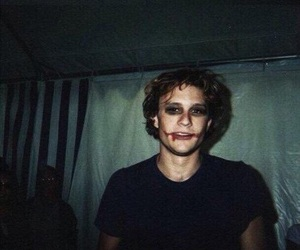 heath ledger, joker, and batman image