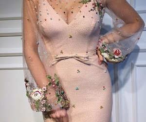 ball, flower, and dress image