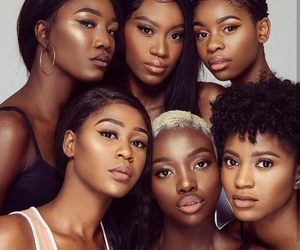 african american, girls, and beauty image