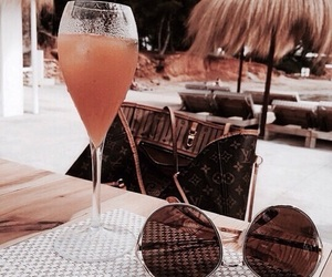 drink, theme, and sunglasses image