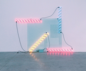 light, blue, and neon image