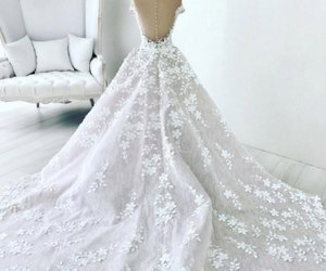 dress, wedding, and amazing image