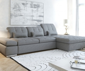 interior design, sofa bed, and sectional sofa image