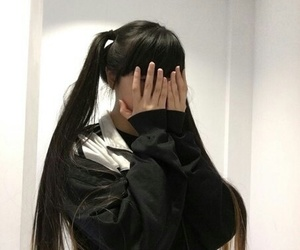 asian, girl, and hair image