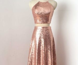 dress and rosegold image
