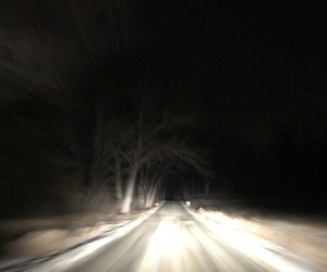 alone, dark, and driving image