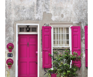 pink, house, and door image