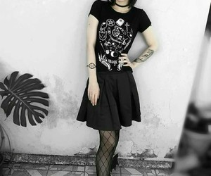 goth, Tattoos, and witch image