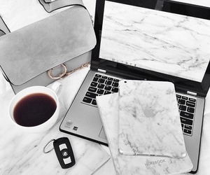 bag, coffee, and apple image
