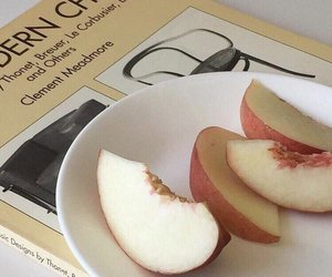 aesthetic, peach, and food image