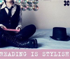 books, reading, and style image