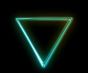 geometric, glow, and green image