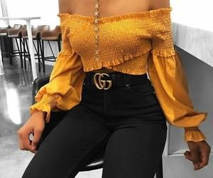 fashion, yellow, and gucci image