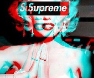 supreme, Marilyn Monroe, and monroe image