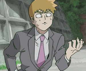 mob psycho 100, mp100, and reigen arataka image