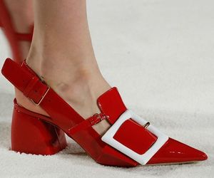 fashion, red heels, and tacones  image