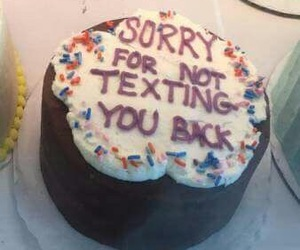 cake and sorry image