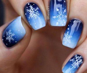 blue, christmas, and nail image