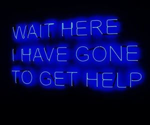 blue, glow, and neon lights image