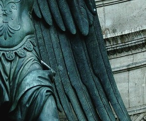 detail, statue, and teal image