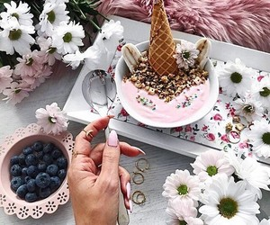 delicious, blueberries, and ice cream image