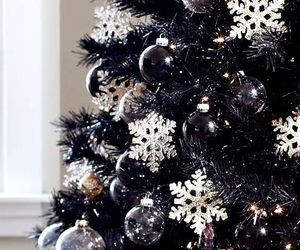 winter, christmas, and christmas tree image