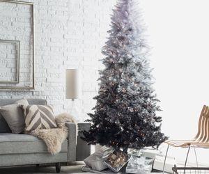 christmas, tree, and black image