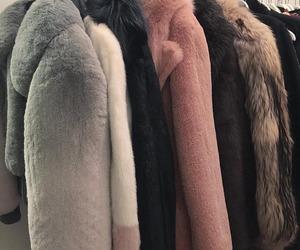 fashion, coat, and fur image