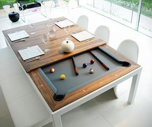 art, pool table, and dining table image