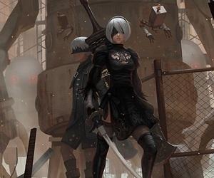 art, game, and girl image