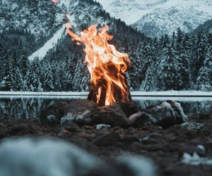 fire and winter image