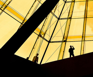 silhouettes and yellow image
