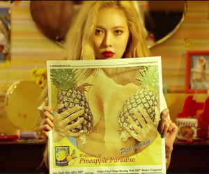 hyuna, kpop, and pineapple image