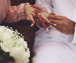 henna, marriage, and couple image