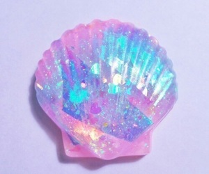 pink, mermaid, and shell image