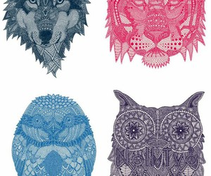 Animales, lobo, and illustration image