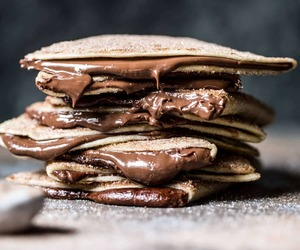 chocolate, food, and crepes image