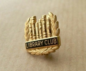 aesthetic, badge, and books image