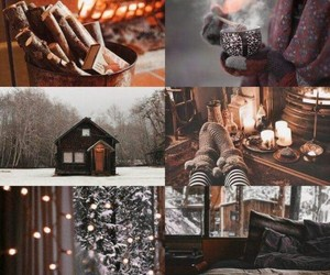 Collage, lights, and winter image