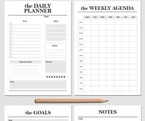etsy, daily planner, and weekly planner image
