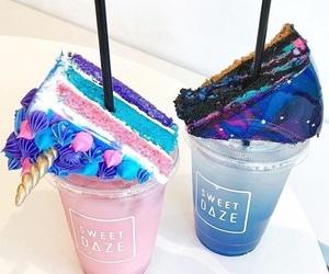 cake, food, and unicorn image